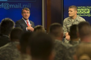 Carter Fields Questions During Televised Global Troop Talk